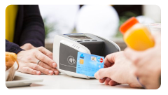 How do you get paid by contactless debit card?